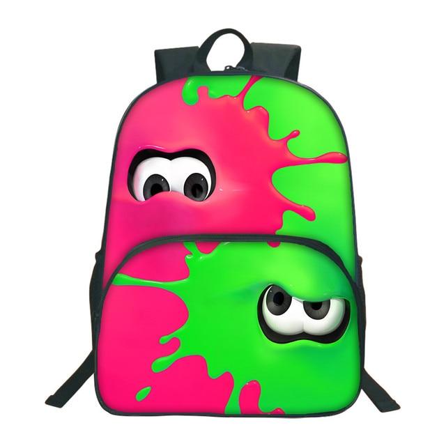 2018 Splatoon 2 Backpacks Colorful School Bags For Agers Bookbag Boys Backpack Mochila Kids Schoolbag 3d