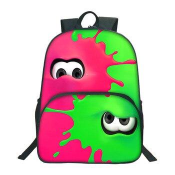 9fdc8e2bd 2018 Splatoon 2 mochilas coloridas mochilas escolares para adolescentes  Mochila niños Mochila escolar 3D Bolsa De estudiante impresa