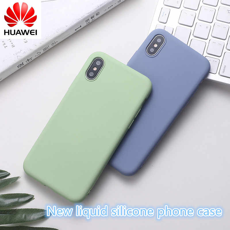 Huawei case huawei mate 10 20 Pro lite case huawei p20 30 pro lite liquid silicone phone case Honor 10 V20 ultra-thin back cover