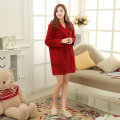 Hooded Plush Tracksuit Vestidos De Dormir Women Truien Horn Button Sleepwear Knitted Sweatshirts Hoodies Sleep Top Robe Bathrobe