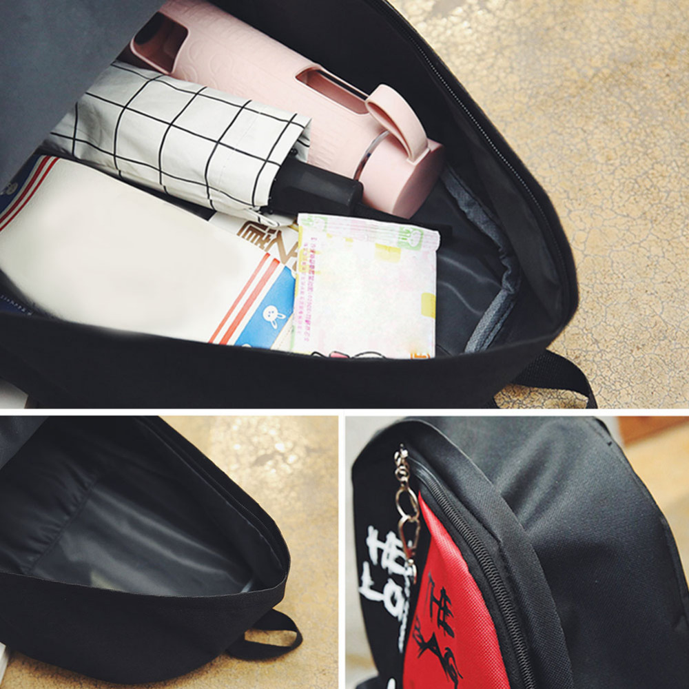 2019 Hot Nylon Women Backpack High Quality Korean Backpacks For Teenage Girls Boys School Shoulder Bag Bagpack Zipper Backbag #5