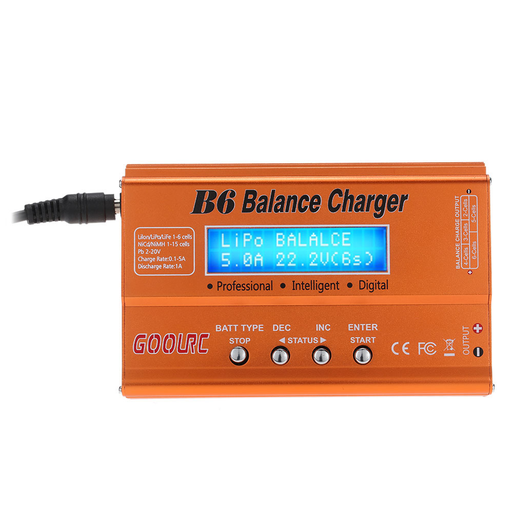 GoolRC B6 Mini Multi-functional Balance Charger Discharger for LiPo Battery Lilon LiFe NiCd NiMh Pb RC Battery RC Car Parts Dron (10)