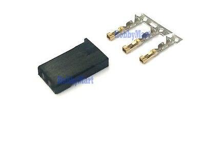 Male Servo Connector for RC Jr Hitec Futaba with Gold Plated crimps x 20 SETS futaba servo lead lock black 20 pcs