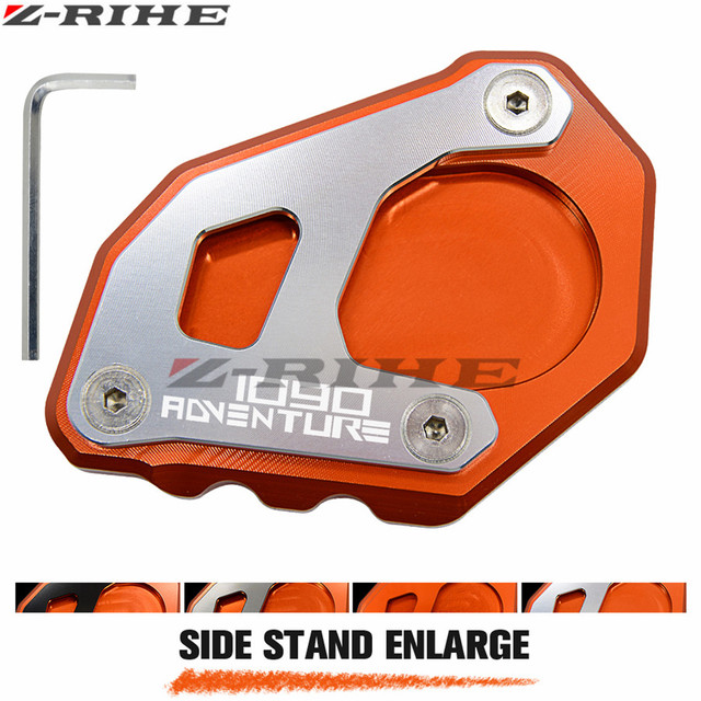 For KTM 1090 Adventure LOGO Motorcycle Side Stand Plate Kickstand Extension Pad Side Stand Enlarge Fit  sc 1 st  AliExpress.com & For KTM 1090 Adventure LOGO Motorcycle Side Stand Plate Kickstand ...