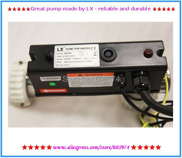 3KW spa heater - LX H30-R2 hot tub heater - L-Shape H30-R2 3KW LX Chinese Heater For Hot Tubs And Spas 2 spa hot tub heater split nut union