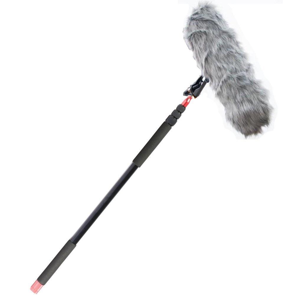 Nicad 11.5 ft Professionale Palmare Boom pole per Microfoni Direzionali, Leggero, facile Twist Lock, Maniglia Imbottita