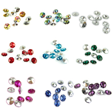 50pcs/lot 14mm Octagon Beads 2 Holes Silver Plated Bottom Strand Hanging Diamond Bead For DIY News