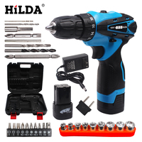 16 8V Electric Screwdriver Battery 2 Cordless Screwdriver Rechargeable Parafusadeira Furadeira Electric Drill With Plastic Case