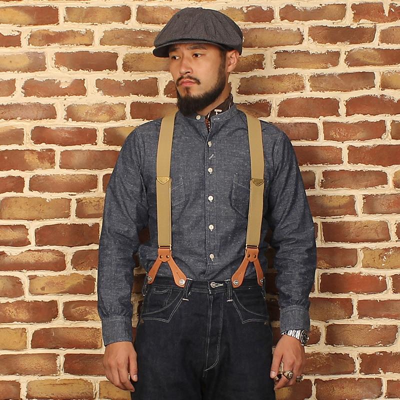 Lire la DESCRIPTION bronson retour à la série ancienne chemise homme style américain vintage chemise à manches longues
