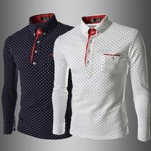 Britische Mode Männer Hemd Polka Dot 2016 Neue Europäische Stil Shirts männer Slim Fit Casual Langarm-shirt Camisa Masculina