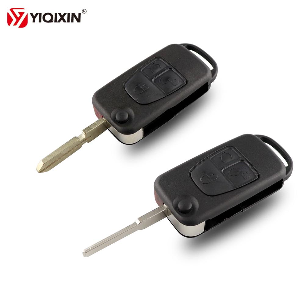 YIQIXIN 3 düğmeler çevirme katlanır anahtar kabuk Mercedes Benz ML C CL S SL SEL uzaktan araba anahtarı durum benz için