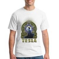 2017 Мужская футболка для мальчиков с короткими рукавами футболка S Никола Тесла футболки мужские хлопок Лидер продаж футболка Maker