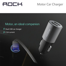 ROCK Motor Dual USB Car Charger for Mobile Phones