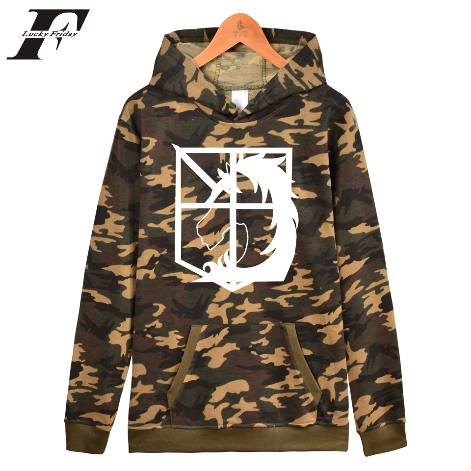 moletom masculino hip hop Attack On Titans printed Hoodie Sweatshirt Japanese Movie Camouflage men tracksuit men clothing roupas