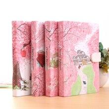Хорошее «Сакура кошка ver.2» журнал дневник твердый переплет Симпатичные журнал исследование Тетрадь внутри на документы