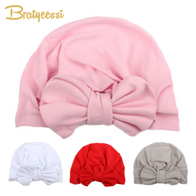 Fashion Baby Girl Hat con fiocco Candy Color Infant Baby Beanie Cap Accessori 1 PC