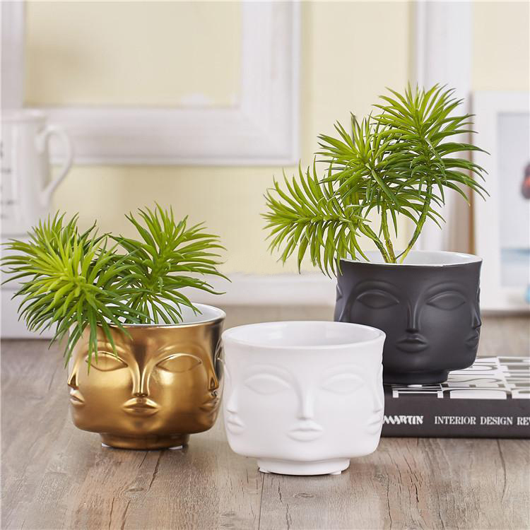 White Nordic Ceramic Plant Pots