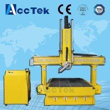 AccTek 180 degree swing spindle woodworking machine for 4D model work with CE certification