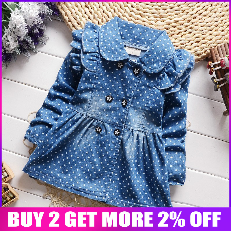 BibiCola Children clothing denim coat for girls jackets