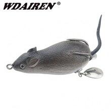 1 шт., приманка для мыши, 7 см, 17,5 г, рыболовные приманки с тройными крючками, топ, водный луч, лягушка, Кривошип искусственный, крепкий, искусственный, мягкий, наживка, WD-454