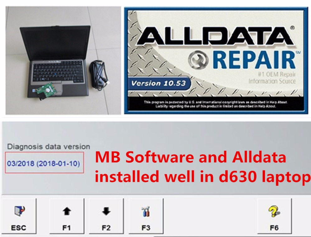 All Data Auto Repair Software Alldata 10.53 And Mb SD Connect C4 Software 2020.3v 2in1 Installed In D630 Laptop Win7