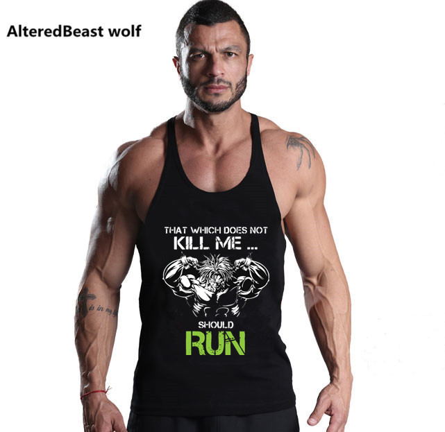 2018 Men Dragon Ball   Tank     Tops   brand Men Vegeta Goku Bodybuilding clothing Summer Fitness Men Vest Undershirt Stringer   Tank     Top