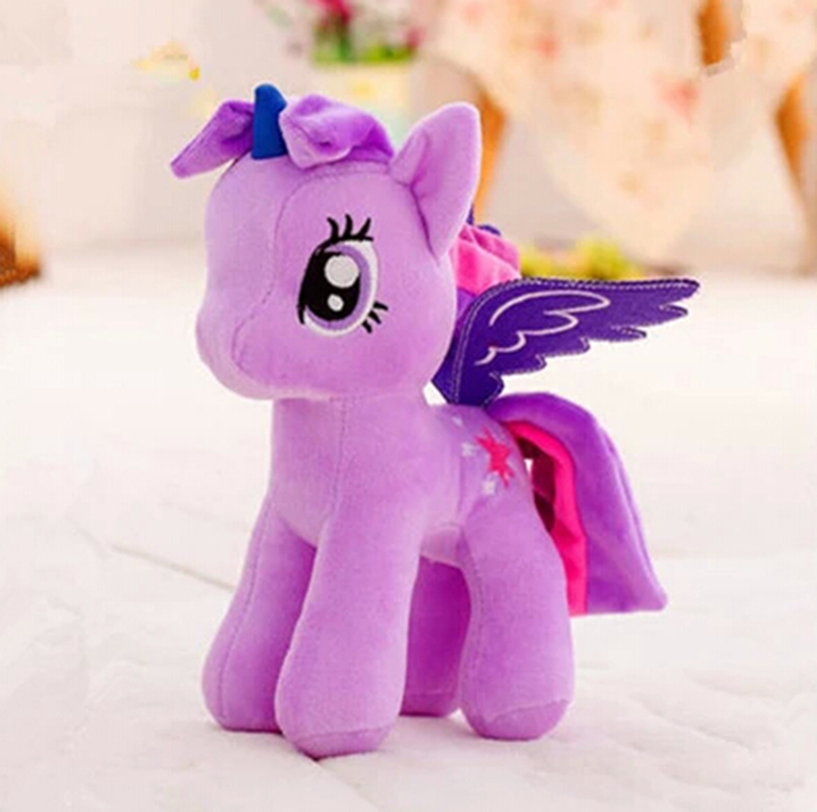 20cm Candy Color Unicorn Rainbow Little Horse Stuffed Plush Toys Animals Soft Dolls Kawaii Kids Children Gifts Girlfriend N012 plush animals black footed ferret doll stuffed children s toys simulation animal dolls rare gifts