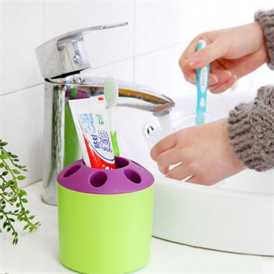 2015 New Convenient Home Use Porous Toothbrush Toothpaste Holder Bathroom Sets image