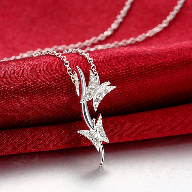 925 Silver Love Valentine S Day Gift Necklace Lady Style Japan And