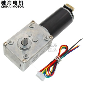 ChiHai Motor CHW-GW4058-3162 Hall Encoder Worm Wheel and Worm Reduction Motor Applied to Robots Automation Equipment DC12V24V image