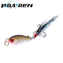 WDAIREN 1PCS winter VIB 2.5cm 4.8g fishing lure hard bait ice sea fishing tackle diving swivel jig wobbler Iron bait FA-263