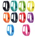 10Pcs Multicolor Sports Safety Bracelet Wristband Replacement Wrist Support Band Strap with Clasp for Garmin Vivofit 1