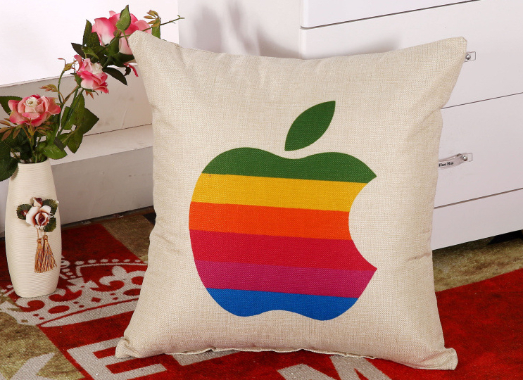 Colorful Bite Of The Apple Pillow Massager Decorative Pillows Vintage Style Of Pleasure Home Decor Modern