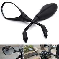 Universal 10mm Motorcycle Rearview Mirror Left&Right Rear View Mirrors Housing Side Mirror FOR BMW R1200gs R1200GS R1200RT