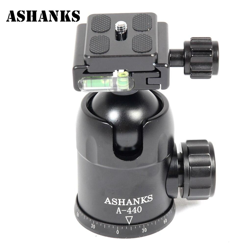 ASHANKS A440 Нагрузка 15 КГ Мяч Головой на 360 Градусов быстрый Поворот Штатив Ballhead с Quick Release Plate Для DSLR Камеры