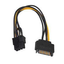 DA1-12PSU жесткий диск питание кабели с муфтой шнур патч разъем провода для ПК компьютерный адаптер