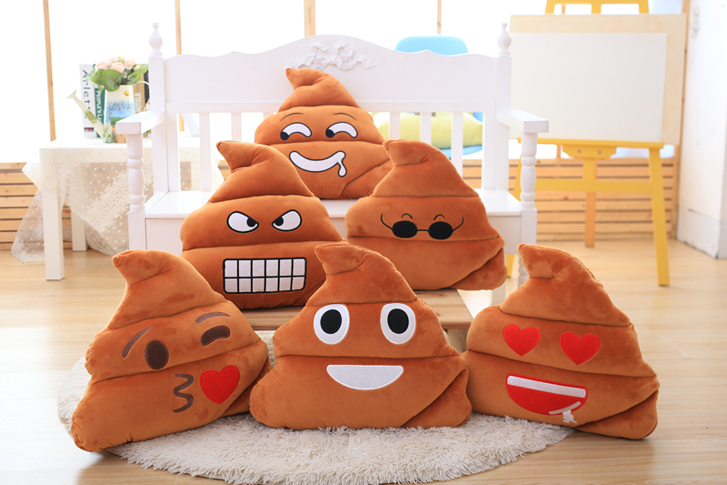 GGS Funny Stuffed Toy Baby Gift Cute Emoji Poop Cushion Fake Turd Classic Shit Pillow Practical Joke For Unisex Gift
