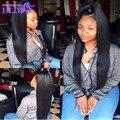 "Grade 7A Virgin Brazilian Hair #1 Jet Black Brazilian Straight Hair 3pcs lot Virgin Hair Bundles 10""-30"" Brazilian Human Hair"