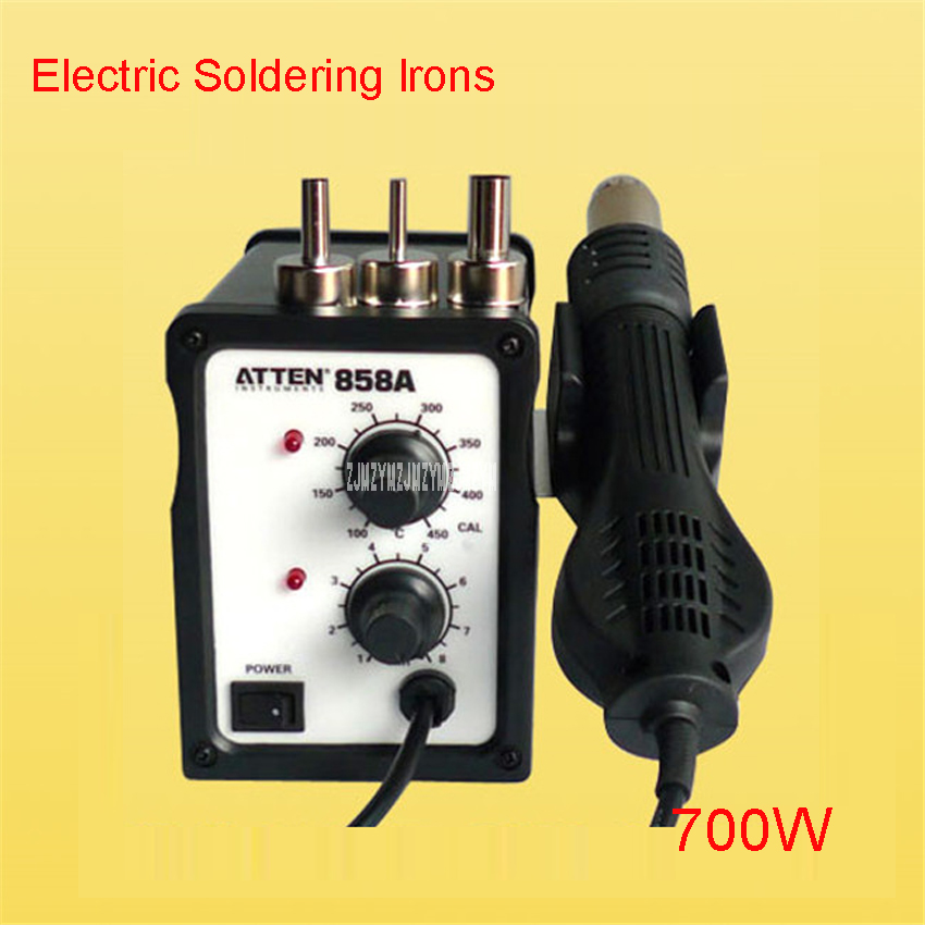 858A LAC 220V / 50Hz Lead Free Hot Air Soldering Station 700w ,electro-thermal Pyrography tool, Electric Soldering Irons yihua 898d led digital 700w lead free smd desoldering soldering station hot air soldering station