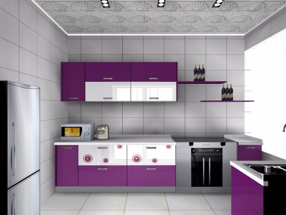 Modern Purple Kitchen Cabinet