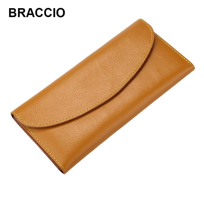 Thin Wallets Money-Bag Clutch Coin-Credit-Card-Holder Slim Purse Female Genuine-Leather