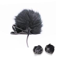 Fur Windscreen Windshield Wind Muff for Lapel Microphone Mic to Lapel Microphone Windscreen With Clamp Clips