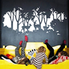 2016 Deers In Forest Wall Sticker DIY Vinyl Large Wall Stickers Home Decoration Vintage Poster Wall