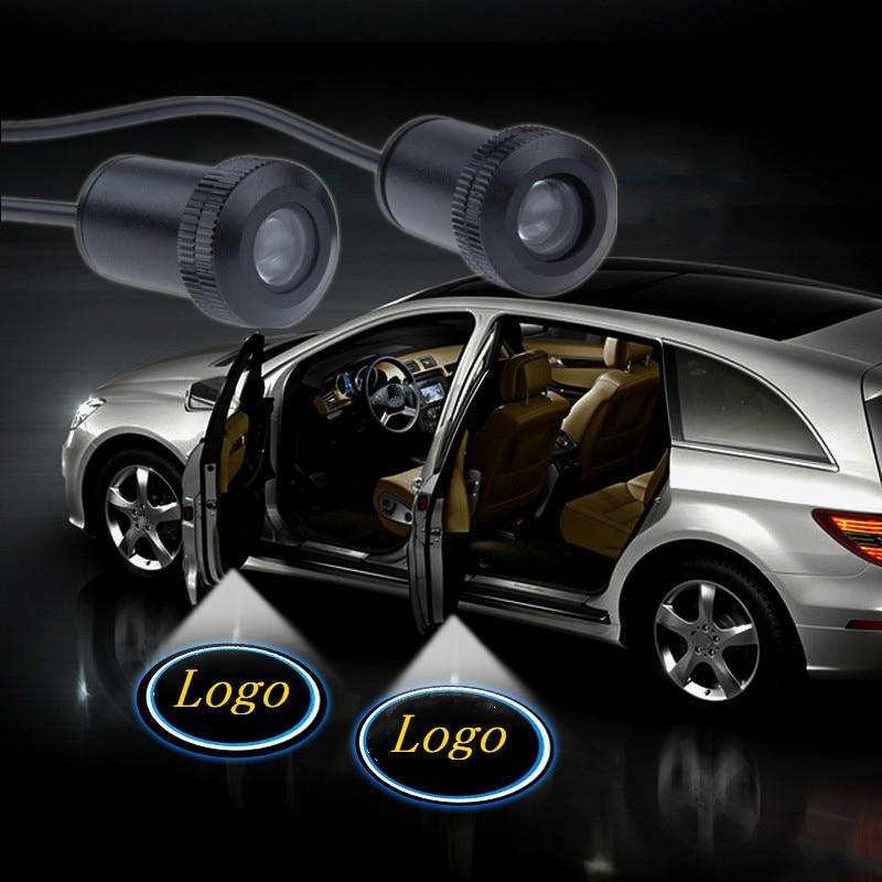 2X Car Auto LED Proyector Proyector Bienvenido Sombra Logo Puerta Luces Bombillas
