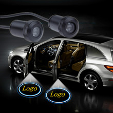 цена на JURUS 2PCs LED Car Door Welcome Light Courtesy Led Car Laser Projector Logo Ghost Shadow Light Case For Scania Logo Emblem Lamp