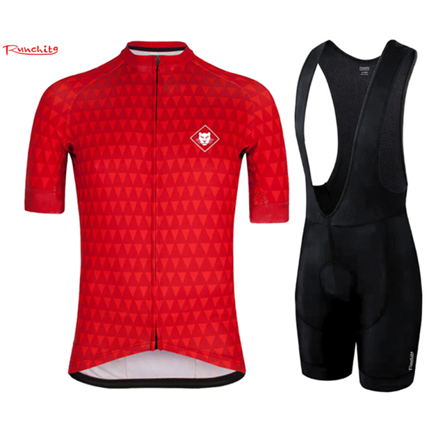 Runchita 2018 pro team cycling jersey short sleeve set summer mens Bicycle  Ropa Ciclismo Clothing Custom with Bib Pants maillot 8bca37fb4