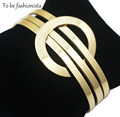 Trendy luxury women bangle bracelets fashion 65mm plating 18k gold color latest Wristband open Cuff Jewelry Bangle Bracelet