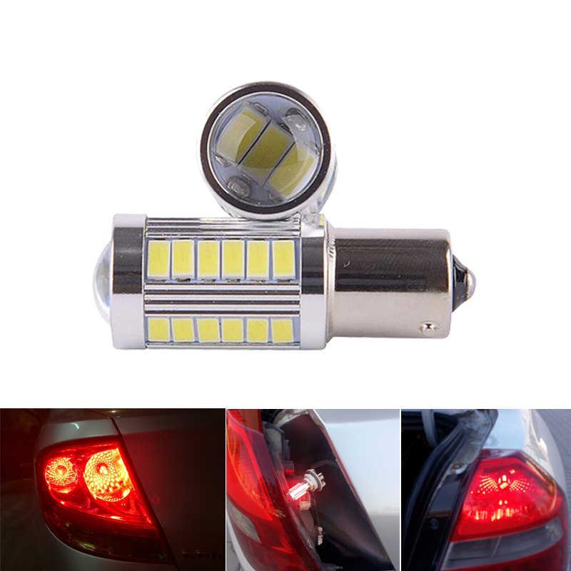 1x p21w ba15s 1156 bay15d 1157 carro conduziu a lâmpada de sinal drl super brilhante nevoeiro lâmpada auto cauda freio reverso estacionamento luz 12 v branco vermelho