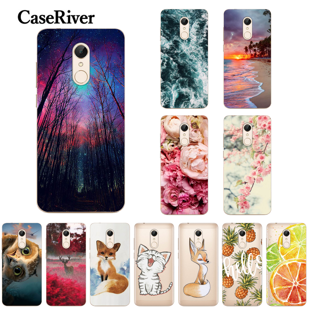 Soft TPU For Xiaomi Redmi 5 Case Cover Xiaomi Redmi 5 Plus Case Painted Soft Silicone Phone Back Case FOR Redmi 5 /5Plus Cases(China)