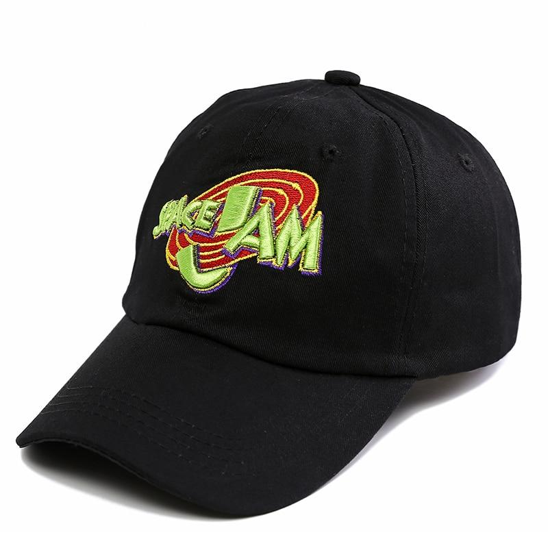 2018 Jordans Movie Space Jam   Baseball     Cap   Fashion Curved Chapeau Dad Hats Casquette Brand Snapback Hip Hop Bone Men Women